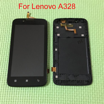 Quality Black White LCD Display + Touch Screen Digitizer with Frame For Lenovo A328 Mobile Phone Sensor Repair Parts