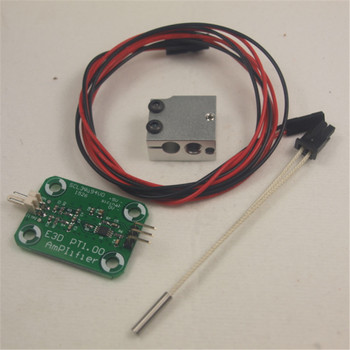 Horizon Elephant Reprap 3D printer V6 Volcano PT100 sensor Upgrade kit amplifier board+PT100 temperature sensor+cable+heater bl