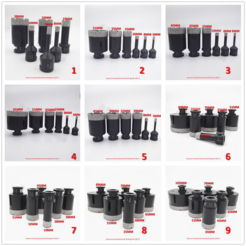6pcs/set Vacuum brazed diamond Dry drilling bits with 5/8-11 connection for porcelain tile granite marble stone Masonry brick