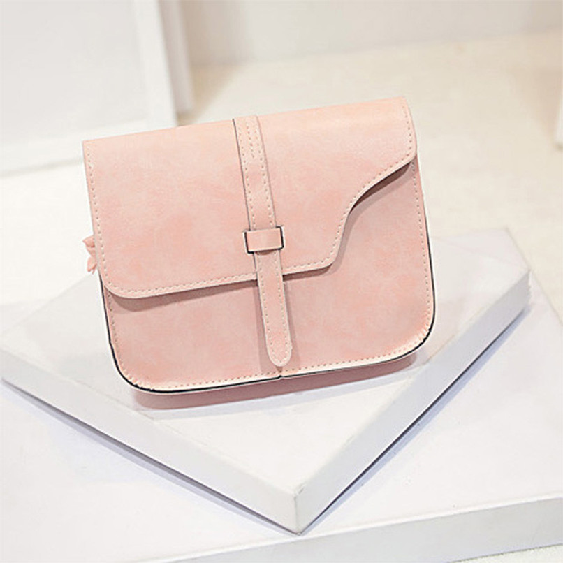 2017 candy color Women Girl Shoulder Bag Faux Leather Satchel Crossbody Tote Handbag gift wholesale A2000