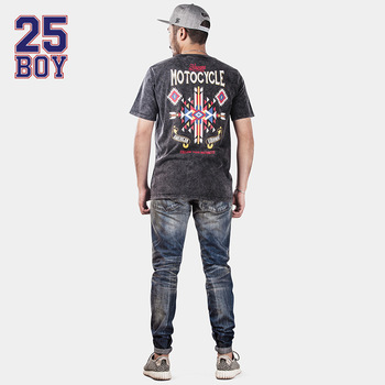 25BOY HE75DENIM Washed Selvedge pants Retro Jeans Trendy Streetwear Premium Craft Jeans